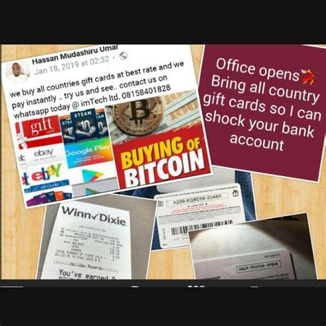 And to get started with buying gift cards using bitcoin won't be hard either as there are already over 700+ businesses with gift cards you can purchase using cryptocurrencies. The Best Place To Trade Your Gift Cards And Bitcoin @imtech Ltd - Science/Technology - Nigeria