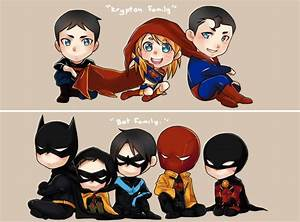 bat family and super family They're so cute they're chibi ...