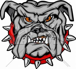 Clipart Bulldog Mascot Graphic Vector Cartoon