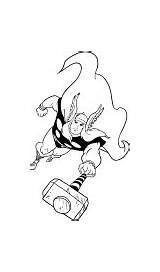 Thor Coloring Drawing Pages Cartonionline sketch template