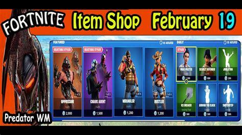 Fortnite Item Shop February 19 2020 / Last day of Season