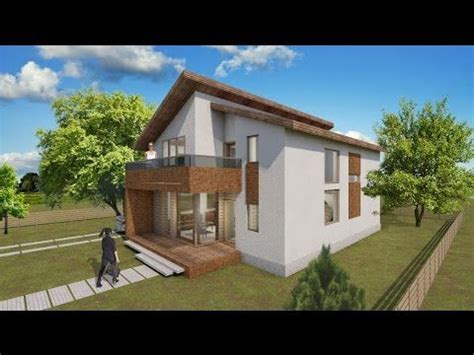 small attic style house design  square meters floor