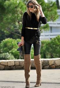 Pics For u0026gt; Over The Knee High Boots With Jeans