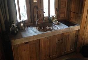 cuisine en pierre naturelle salle de bain cuisine With salle de bain design avec evier ancien en pierre naturelle