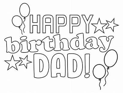 Dad Birthday Happy Coloring Printable Cards Printables