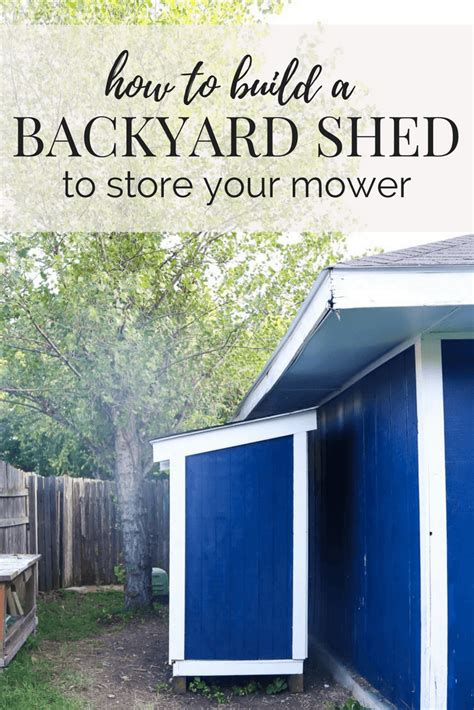 diy lawn mower shed quick  easy diy love renovations