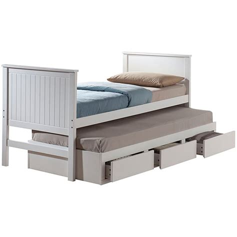 33874 size bed with trundle bungalow white finish size captain bed with trundle