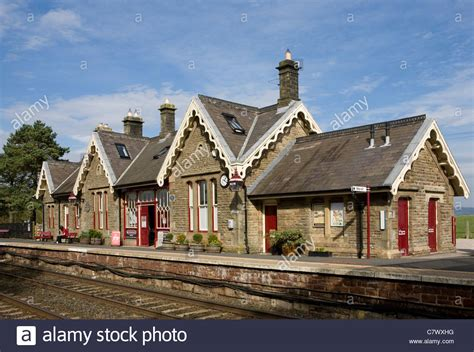 British Remote And Rural Railway Stations On The Settle To Carlisle Stock Photo, Royalty Free