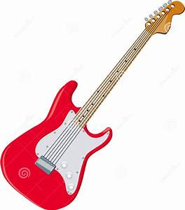 Red guitar clipart - Clipground
