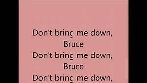Electric Light Lyrics Don 39 T Bring Me Down Electric Light Orchestra E L O