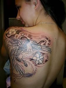 Beautiful Back-... Phoenix Bird Tattoo Quotes