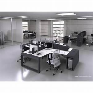 Bureau Noir Et Blanc : bureau op ratif 90 degr s logic noir et blanc ~ Melissatoandfro.com Idées de Décoration