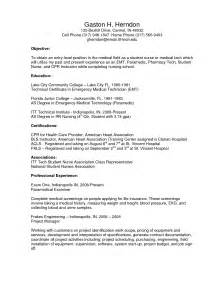 Exle Resume For Entry Level by Entry Level Resume Objective Exles Berathen