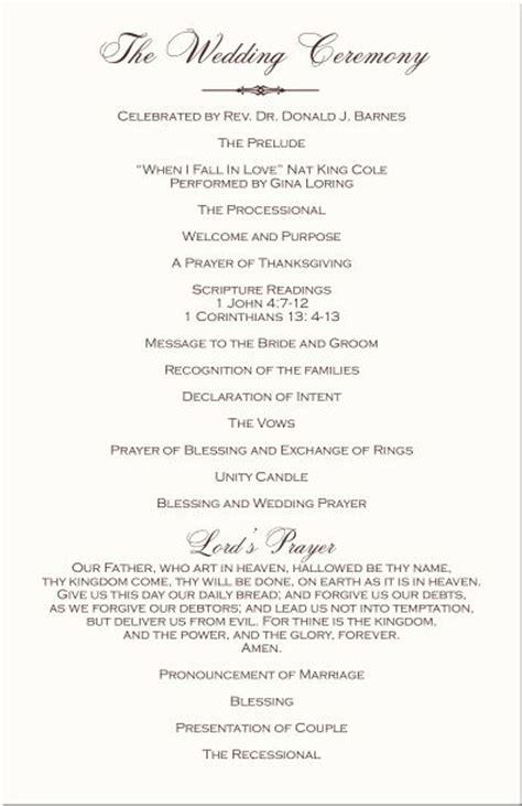 wedding ceremony program template mini bridal