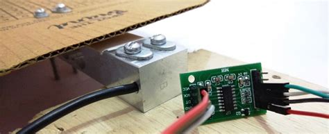 arduino weight measurement project with load cell and hx711 module interfacing circuit diagram