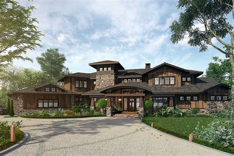 bedroom mountain lodge house plan kn architectural designs house plans