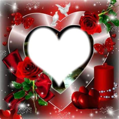 montage photo coeur de la st valentin pixiz