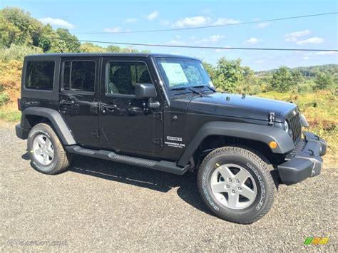 jeep wrangler sports 2016 black 2016 jeep wrangler unlimited sport 4x4 exterior