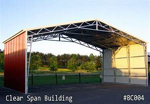 Steel clear span buildings for less for Clear span steel buildings