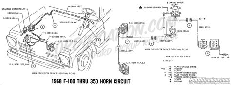 1966 Ford F100 Horn Diagram by Ford Truck Technical Drawings And Schematics Section H