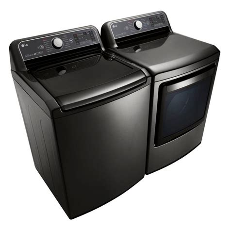 black washer and dryer lg washer dryer set black stainless steel