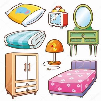 Cartoon Bedroom Bed Illustration Element Table Tennis