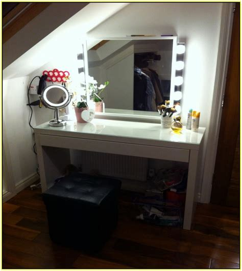 vanity table with lighted mirror ikea dressing table mirror with lights ikea home design ideas