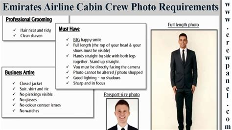 cabin crew requirements emirates cabin crew photo requirements for males