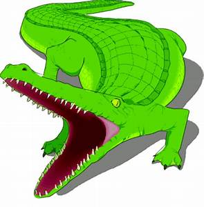 Swamp alligator cartoon clipart image - Clipartix