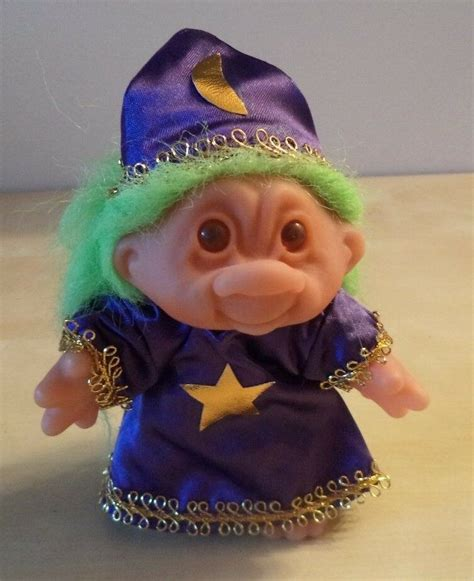1986 Dam Troll Wizard With Lime Green Hair And Purple