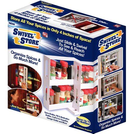 As Seen On Tv Spice Rack Reviews by As Seen On Tv Swivel Store Organizer Walmart