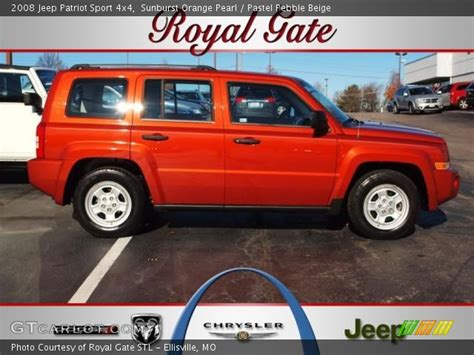 orange jeep patriot sunburst orange pearl 2008 jeep patriot sport 4x4 with