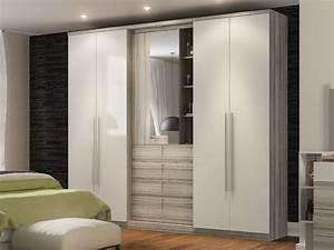 Kleiderschrank 4 Türen : kleiderschrank isak mit spiegel 4 t ren g nstig ~ Markanthonyermac.com Haus und Dekorationen
