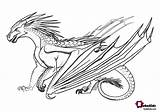 Wings Fire Coloring Dragon Dragons Ice Printable Adults Cartoon Mythical sketch template