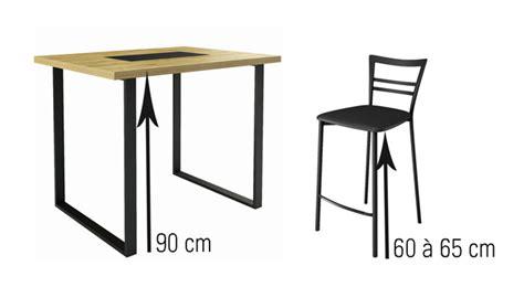 hauteur d une table haute tabouret pour table hauteur 90
