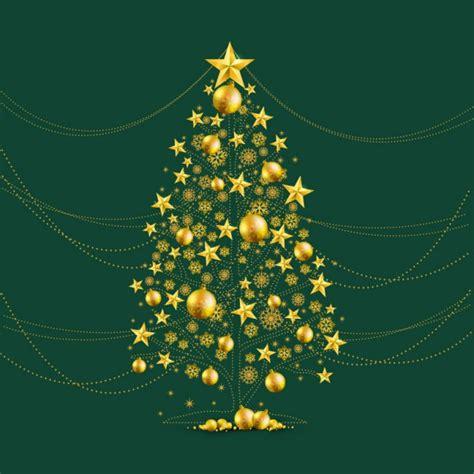 arbol navidad dorado 193 rbol de navidad dorado descargar vectores gratis