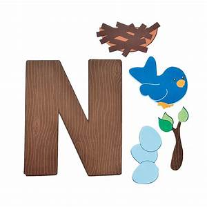 """""""N Is For Nests"""" Letter N Craft Kit - Oriental Trading"""