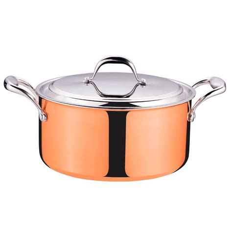 copper steel stainless sauce cooking cookware pan clad ply tri lid wok pot covered cooktops 9pcs kitchen magic pots pans