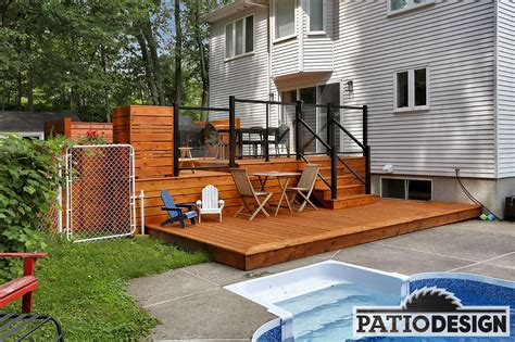 idee de patio en bois conception fabrication et installation de patios nos r 233 alisations