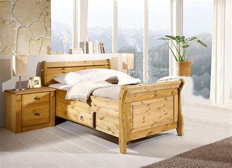 Massivholz Bett Mit Schublade 90x200 Cm Holzbett Kiefer