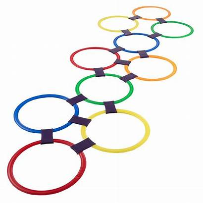 Hopscotch Rings Ring Play Plastic Colored Hey