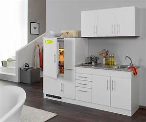 Singlekuche berlin mit kuhlschrank breite 210 cm for Singleküche mit kühlschrank