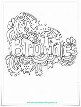 Brownies Brownie Doodle Owl Scouts Scout Guides Activities Guide Toadstool Printables Songs Meeting Badges Coloring Promise Pages Colouring Sparks Fraser sketch template