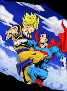 Goku versus Superman Colored by stryfers on DeviantArt