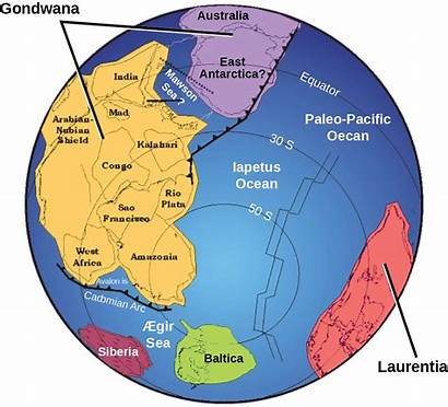 Era Paleozoic Continents Continent Gondwana Laurentia During