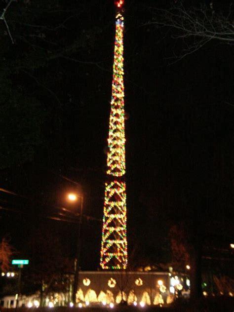 wral christmas tower lighting