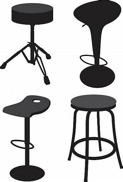 Stool Vector Clip Illustrations Legged Silhouettes Dining