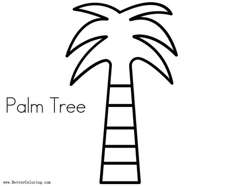 palm tree coloring pages coconut tree  printable