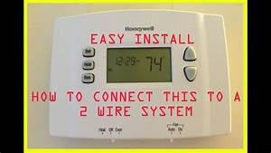 Two 2 Wire Honeywell Digital Thermostat To Replace Mercury Switch  Convert From Mercury Switch
