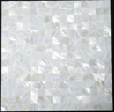 of pearl sea shell mosaic kitchen backsplash tile